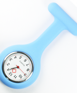 Cyan Blue Silicon Nurse Fob Watch