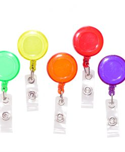 Retractable ID Keyring Tags