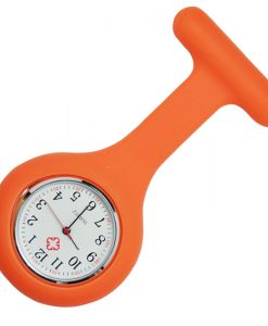 Orange Silicon Nurse Fob Watch