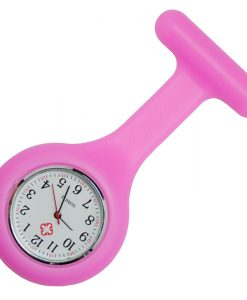 Baby Pink Silicone Nurse fob Watch