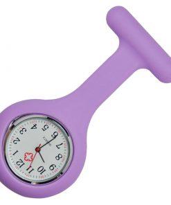Light Purple Silicone Nurse Fob Watch