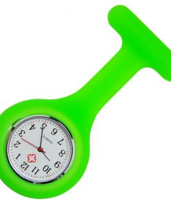 Neon Green Silicone Nurse Fob Watch